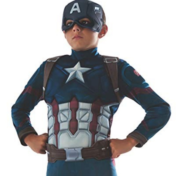 Rubie S Costumes Rubies Boys Marvel Captain America Costume Poshmark For a chance to win our beautiful handcrafted limited edition belle dress get your hands on the official captain marvel costume today! rubies boys marvel captain america costume